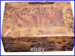 New wooden thuya jewelry box handmade moroco fast shipping storage wood grain