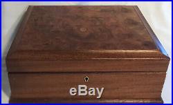 Nice Large $900 Burled-wood Vintage Large Osvaldo Agresti Locking Jewelry Box