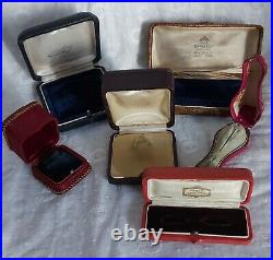 Nice lot of antique jewellery boxes, rings, medal, tie pin, brooch