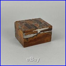 Norman Brumm Wood and Metal Handcrafted Trinket or Jewelry Box