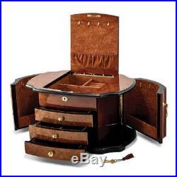 Oak Burl with Natural Mapa Wood Veneer Jewelry Box