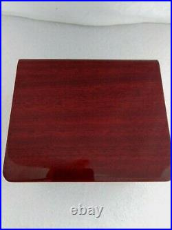 Omega wood watch box & documents
