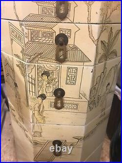 Original Asian Vintage Antique Jewelry Armoire Box from Thailand