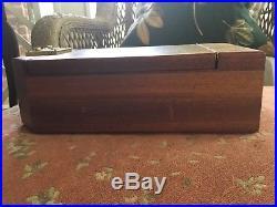 Osvaldo Agresti Briarwood & Mahogany Safe Jewelry Box. Combination Lock. Nice