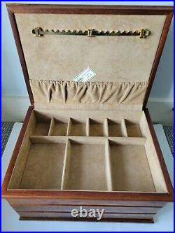 Osvaldo Agresti Burl Wood Jewelry Box Made In Florence Italy