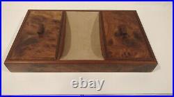 Osvaldo Agresti Italian Burled Walnut Jewelry Box / Valet