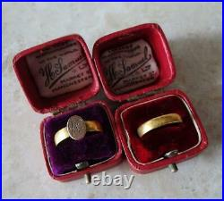 PAIR FINE QUALITY ANTIQUE RING BOXES perfect for wedding rings ANTIQUE RING BOX