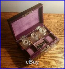 PRETTY VICTORIAN LADIES COROMANDEL COMBINATION PERFUME & JEWELLERY BOX c. 1880