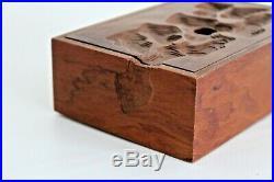Peter Kwasniewski Vtg Mid Century Modern Carved Wood Craft Art Jewelry Table Box