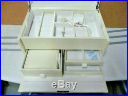 Pottery Barn Mckenna jewelry box Ivory Large NO MONO
