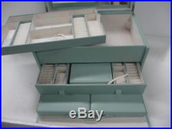 Pottery Barn Mckenna jewelry box Porcelain Blue Armoire Large NO MONO