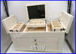 Pottery Barn Ultimate Jewelry Box Extra-Large Antique White 9.5x18 #7368C