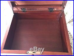 Pottery barn vintage solid wood jewelry Box