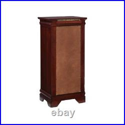 Powell Louis Philippe Wood Jewelry Armoire in Marquis Cherry