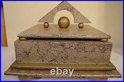 Psychedelic Illuminati Art Deco Masonic Witchcraft Magic Ritual Jewelry Box VTG