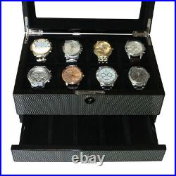 Quality Watch Jewelry Display Storage Holder Case Glass Box Organizer Gift n