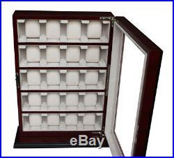 Quality Watch Jewelry Display Storage Holder Case Glass Box Organizer Gift r