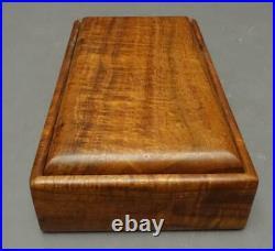 RICARDO DELLERA Handcrafted Hawaiian Koa Wood Jewelry Trinket Storage Box 10x5.5