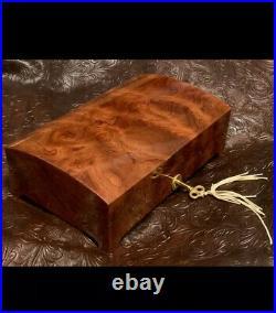 Rare & Beautiful Exotic Bubinga/African Rosewood Handcrafted Locking Jewelry Box