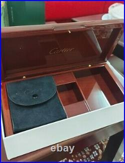 Rare Cartier Jewelry Box Wooden Watch Accessory Case New Unused with OriginalBox