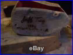 Rare Jeff Trag Burl Wood 3 (one Secret) Drawer Jewelry Box 1986 Signed