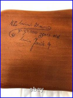 Rare Quade Anderson Hand Carved KAURI WOOD Jewelry Box NEW ZEALAND Signed