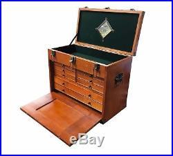 Rdgtools Wood Tool Chest 8 Drawer Jewellery Box Cabinet Mirror Lock LID