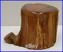 Real Cedar Trunk Handmade Wood Puzzle Jewelry Box John Wilkerson Micanopy FL Vtg