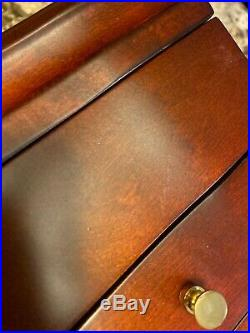 Reed And Barton Jewelry Box Wood Mahogany New