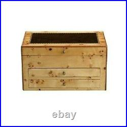 Reed & Barton Selene Maple Jewelry Box Chest Wood Suede Lining Drawers Gift NEW