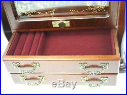 SANKYO Wood Music Box with Bumble Bee Chimes & Jewelry Box Fur Elise 44 Key New