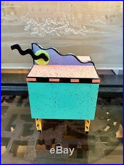 SIGNEDMINT COND Vintage 1990 HOLLIS FINGOLD Wooden Jewelry Box Collectors Gift