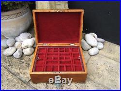 SUPERB LARGE 19c GEORGIAN MAHOGANY ANTIQUE JEWELLERY BOX FAB INTERIOR
