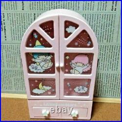 Sanrio Little Twin Stars Chest House Wooden Jewelry Box Accessory Case FedEx