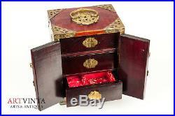 Schmuckschatulle China Holz Schmuckkästchen Jewelry Box Wood Schmuck Asien Asia