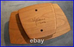 Signed Thom Kellams 2006 Carved Black Cherry TECNOT Jewelry Box