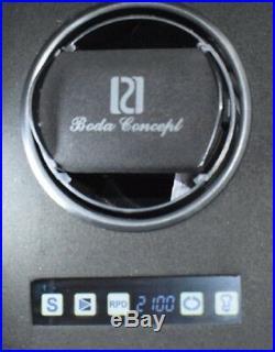 Single Watch Winder Box with Jewelry Storage Drawer Brown Walnut by Paul Design