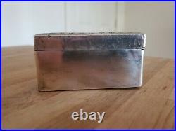 Sterling Silver Cigar Jewelry Desk Box Cigarette Case Wood Lined No Hinge Scrap