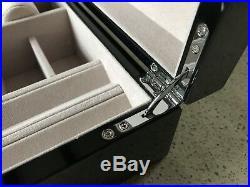 Stratton Of Mayfair High Gloss Black Grain Wood Jewellery Box Bn In Box