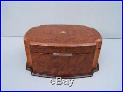 Superb 19c Amboyna Antique Document/jewellery Box Fab Interior