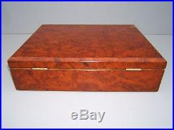 Superb 19c Burr Walnut Antique Document/jewellery Box Fab Interior