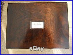 Superb 19c Rosewood Antique Jewellery/vanity Box Fab Interior -dated 1861