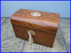 Superb 19c Walnut Antique Document/jewellery Box Fab Interior
