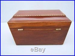 Superb Georgian Partridge Wood Antique Document/jewellery Box Fab Interior