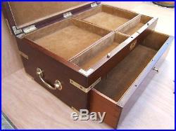 Superb Massive 18c Mahogany Antique Document/jewellery Box Fab Interior