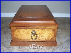 Tell City Chair Company Maple Wood Andover Gentlemen Dresser Jewelry Box #3246