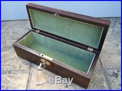 Terrific 19c Rosewood Antique Inlaid Document/jewellery Box Fab Interior