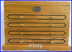 Thomas Pacconi Museum Series JEWELRY CHEST Oak Wood Green Velvet Lining