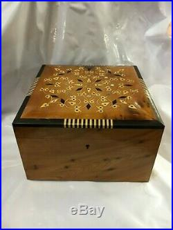 Thuya Wood Jewelry Box Moroccan Handmade Inlaid Burl Decorative Wooden Storage