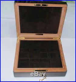 Tiffany & Co wood georgeous jewelry box with key, RARE piece, heavy